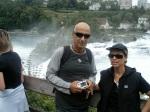 Niv Jacobi -mit Adi und Gideon bei den Schaffhausener Rhein-Wasserfällen
