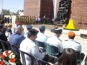 Yad Vashem Jom HaShoa 28.4.2014 High decorated IDF-Men