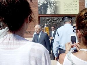 Yad Vashem Jom HaShoa 28-4-2014 Shimon Peres