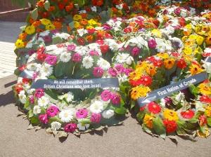 Yad Vashem Jom HaShoa 28.4.2014 special wreathes