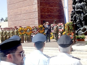 Yad Vashem Jom HaShoa 28.4.2014  Wreath for Jewish Veterans