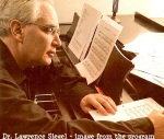 Yerushalayim 8.4. 2014 Dr. Lawrence Siegel