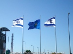 PICT5111 Sderot - Train Sration, Flags - May 1 2014