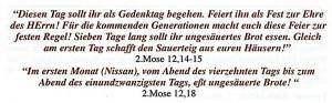 2. Mose 12 - Pessach