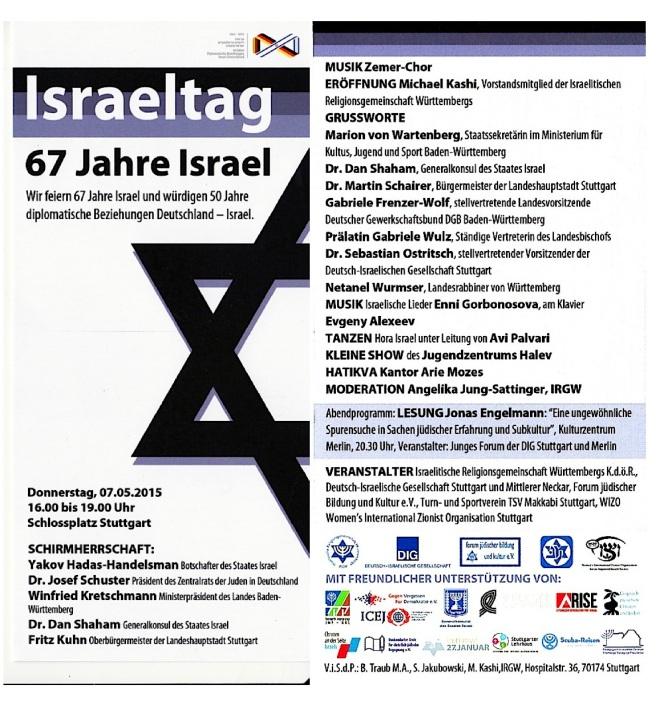 7. Mai 2015 - Israeltag in Stuttgart