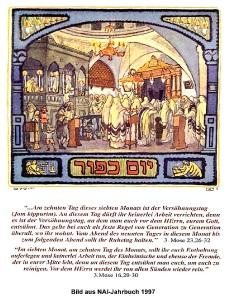 Jom Kippur - Bild aus dem NAI-Jahrbuch 1997 mit den dazugehörigen Bibeltexten